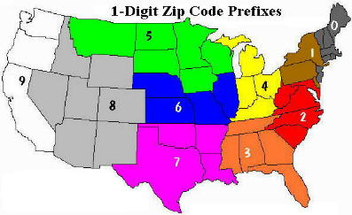 Obtaining US Zip Codes In One Step - Us postal zone map